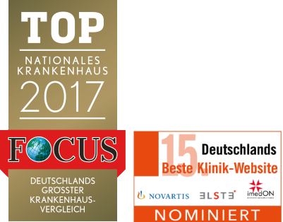 Focus-Siegel 2017 und Nominierung Website